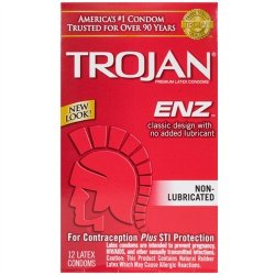 Trojan Enz Non-Lubricated - 12 Pack Sex Toy