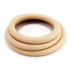 M2M Nitrile Cock Ring - Pack of 3 - Nude Sex Toy