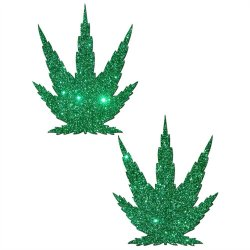 Pastease Green Glitter Marijuana Leafs Sex Toy