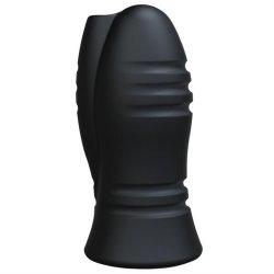 OptiMale: UR3 Vibrating Stroker - Chain Links - Black sex toy.