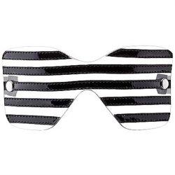 Bad Romance: Black Translucent Eye Mask with Stitching Sex Toy