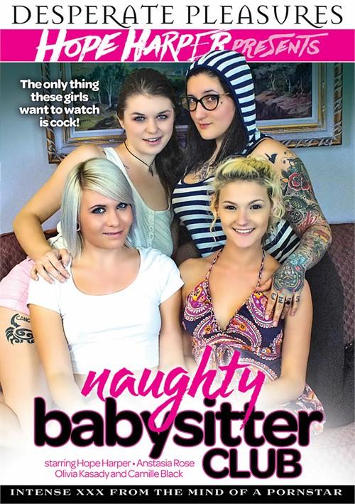 Naughty Babysitter Club, Porn DVD, Desperate Pleasures, Hope Harper, Anastasia Rose, Olivia Kasady, Camille Black, 18+ Teens, Babysitter, Gonzo, Older Men