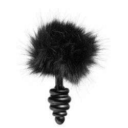 Frisky Bumble Bunny Faux Fur Tail Plug - Black image