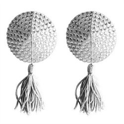 Ouch! Nipple Tassels - Round - White Sex Toy