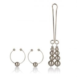 Nipple & Clitoral Non Piercing Body Jewelry - Silver Sex Toy