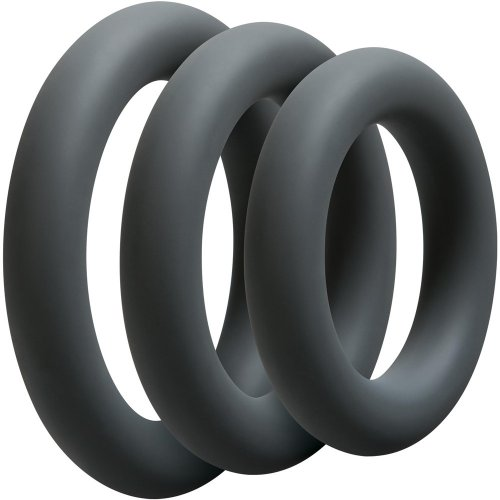 Optimale: 3 C-Ring Thick Set - Slate sex toy.