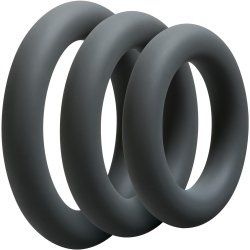 Optimale: 3 C-Ring Thick Set - Slate Sex Toy