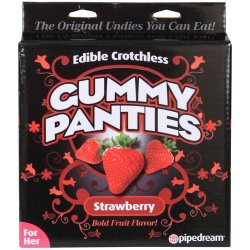 Edible Crotchless Gummy Panties - Strawberry Sex Toy
