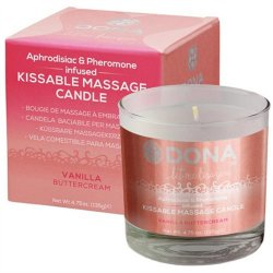 Dona Kissable Massage Candle - Vanilla Buttercream - 4.75oz. Sex Toy