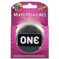 One: Mixed Pleasures Condoms - Box of 3 Sex Toy