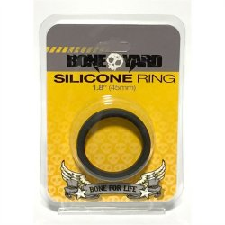 "Boneyard Silicone Ring - 1.8"" (45 mm) - Black Sex Toy"