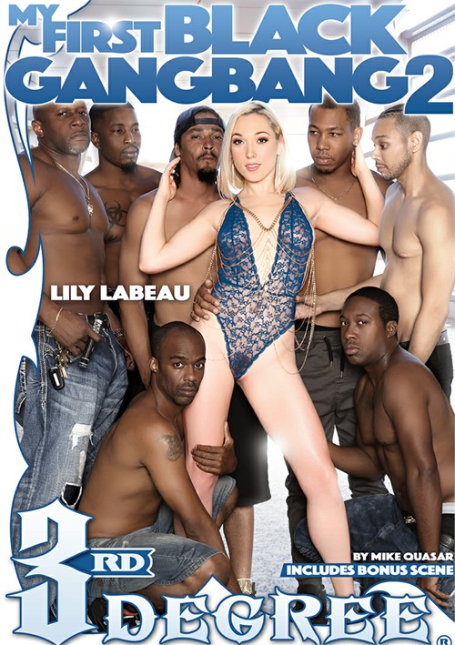 Black on white gang bang trailer