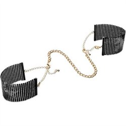 Bijoux Indiscrets: Desir Metallique Handcuffs - Black Sex Toy
