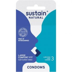 Sustain Comfort Fit Condom - 3 Pack Sex Toy