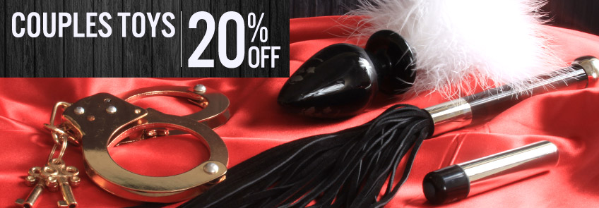 Shop couples sex toys at a 20% discount.