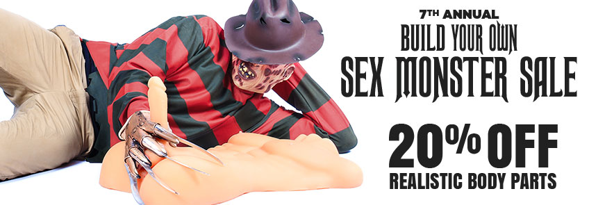Save 20% on realistic body part sex toys.
