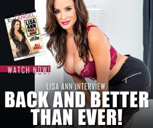 Watch a new video interview with pornstar Lisa Ann.