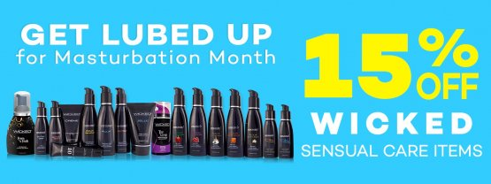 Celebrate Masturbation Month with 15% savings on Wicked Sensual Care items