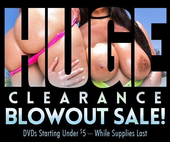 Save on porn DVDs with this huge blowout sale.