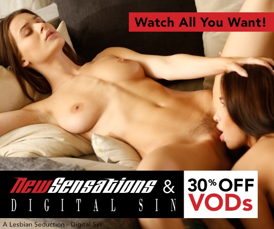 Save 30% on VODs from New Sensations & Digital Sin starring Lana Rhoades and more..