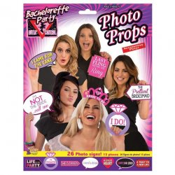 Bachelorette Party Photo Props - 26 Photo Signs Sex Toy