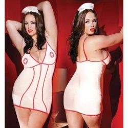 Kissable Nurse Dress with Head Piece - OS/XL Sex Toy