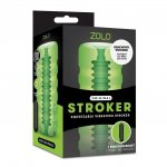 Zolo Original Stroker - Squeezable Vibrating Stroker - Green Sex Toy
