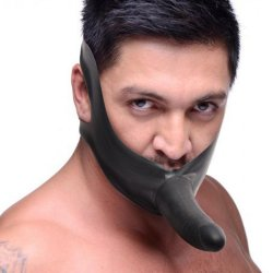 Master Series: Face Fuk Strap On Mouth Gag Sex Toy