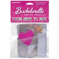 "Bachelorette Party Favors ""From Miss to Mrs"" Party Banner Sex Toy"