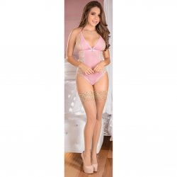 Exposed - Teddy w/ Snap Crotch - Pink - L/X Sex Toy