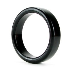 TitanMen Metal Cock Ring - Small - Black Sex Toy