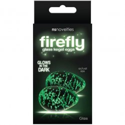 Firefly Glass Glow In The Dark Kegel Eggs - Clear Sex Toy