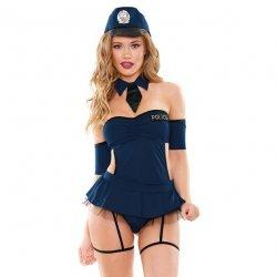 Miss Demeanor Police Costume 4 Piece Set - 1XL/2XL Sex Toy