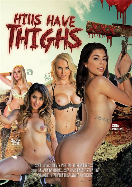 Spizoo, Ralph Long, Gina Valentina, Dirk Huge, Gabby Cunteros, Shopia Leone, Nina Elle, Jessica Jaymes, Alix Lynx, Sara Vandella, Van Wylde, All Sex, Feature, Parody, Spoof, Horror, Hills Have Thighs XXX