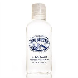 Boy Butter Condom Safe Personal Lubricant - Clear - 4oz Sex Toy