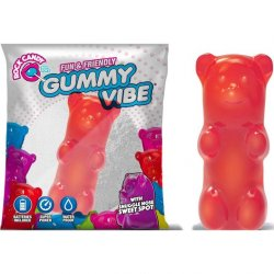 Rock Candy - Gummy Bear 5-function Mini Vibe - Cinnamon Red Sex Toy