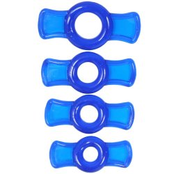TitanMen Cock Ring Set - Blue Sex Toy