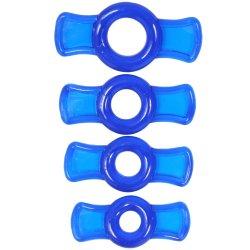 TitanMen Cock Ring Set - Blue Sex Toy