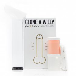 Clone-A-Willy + Balls Vibrator Kit - Light Tone Sex Toy