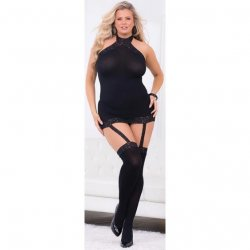 Escante: Hi-Neck Body with Thigh Highs - Queen Size Sex Toy