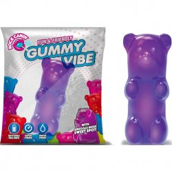 Rock Candy - Gummy Bear 5-function Mini Vibe - Jelly Bean Purple Sex Toy