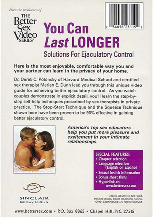 Better Sex Video Series Vol8 You Can Last Longer  Adult Dvd Empire-7995