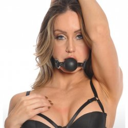 Bizarre Leather: Ball Gag - Black Sex Toy