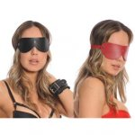 Bizarre Leather: Reversable Blindfold - Red/Black Sex Toy