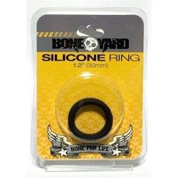 """Boneyard Silicone Ring - 1.2"""" (30 mm) - Black Sex Toy"""