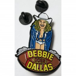 Wood Rocket Debbie Does Dallas Soft Enamel Pin Sex Toy