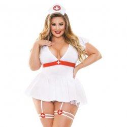 Fantasy Lingerie: Curve Bedside Nurse 3 Piece Set - 1XL/2XL Sex Toy