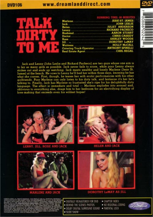 Back cover of Talk Dirty To Me