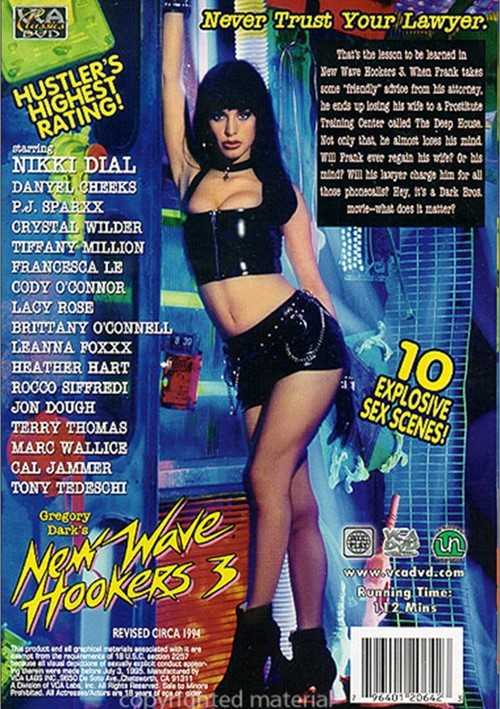 Back cover of New Wave Hookers 3