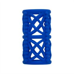 Simply Silicone: Textured Cock Cage Midnight Blue Sex Toy